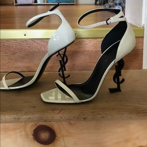 Classic White YSL heels